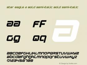 Star Eagle 2 Bold Semi-Italic
