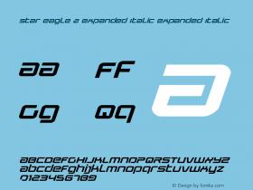 Star Eagle 2 Expanded Italic