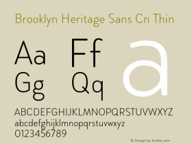 Brooklyn Heritage Sans Cn