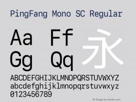 PingFang Mono SC