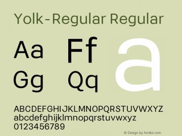 Yolk-Regular