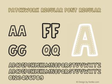 Patchwork Regular Font