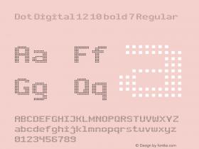 Dot Digital 12 10 bold 7