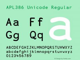APL386 Unicode