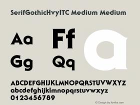 SerifGothicHvyITC Medium