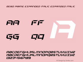 Zero Prime Expanded Italic