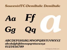 SouvenirITC-DemiItalic