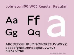 Johnston100 W03 Regular