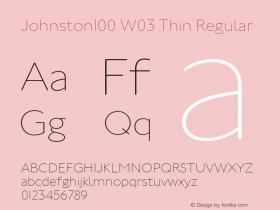 Johnston100 W03 Thin