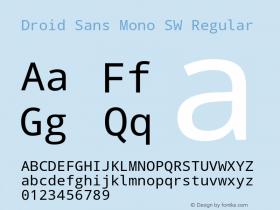 Droid Sans Mono SW