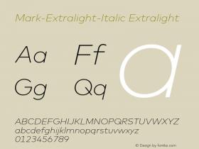 Mark-Extralight-Italic