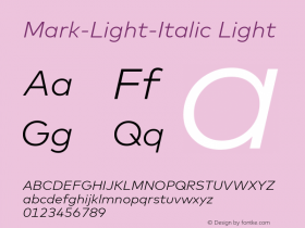 Mark-Light-Italic