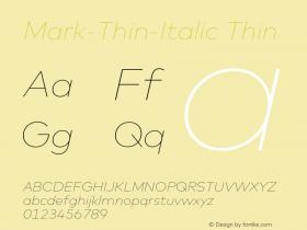 Mark-Thin-Italic
