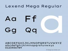 Lexend Mega