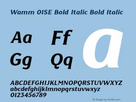 Wamm 01SE Bold Italic