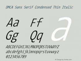 DMCA Sans Serif Condensed