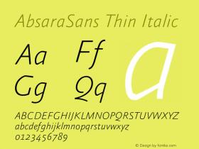 AbsaraSans Thin