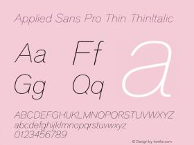 Applied Sans Pro Thin