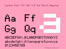 Custom Font ttf 12h 3.0 for Paint
