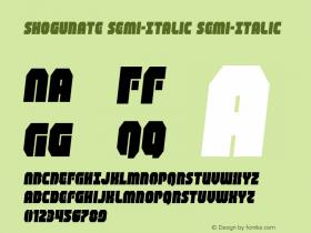 Shogunate Semi-Italic