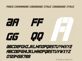 Force Commander Condensed Italic