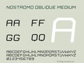 Nostromo Oblique