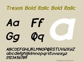 Trexos Bold Italic