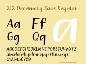 212 Dreamery Sans