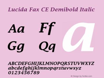 Lucida Fax CE