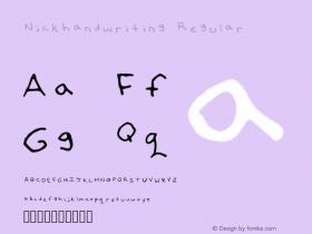 Nickhandwriting