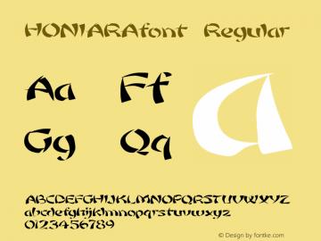 HONIARAfont