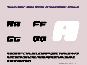 Hula Hoop Girl Semi-Italic