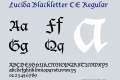 Lucida Blackletter CE