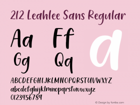 212 Leahlee Sans