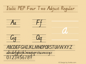 Italic PEP Four Two Adjust