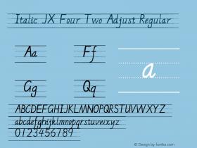 Italic JX Four Two Adjust