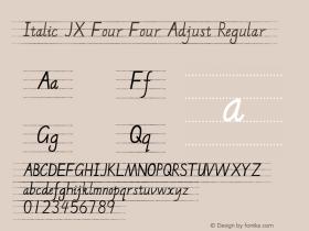 Italic JX Four Four Adjust