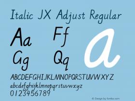 Italic JX Adjust