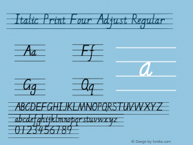 Italic Print Four Adjust