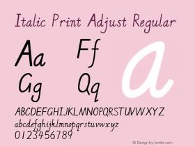 Italic Print Adjust