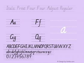 Italic Print Four Four Adjust