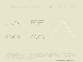 Larga Sans High
