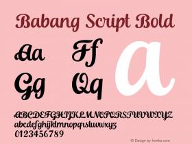 Babang Script