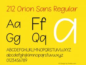 212 Orion Sans
