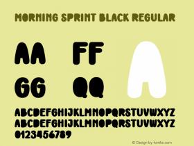 Morning Sprint Black