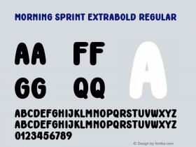 Morning Sprint ExtraBold