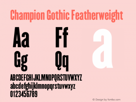 Champion Gothic