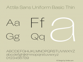 Attila Sans Uniform Basic