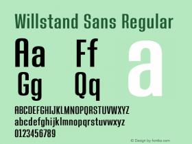 Willstand Sans