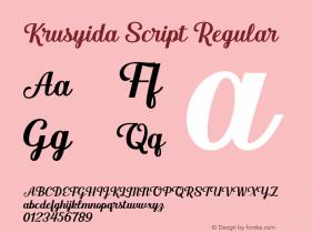 Krusyida Script